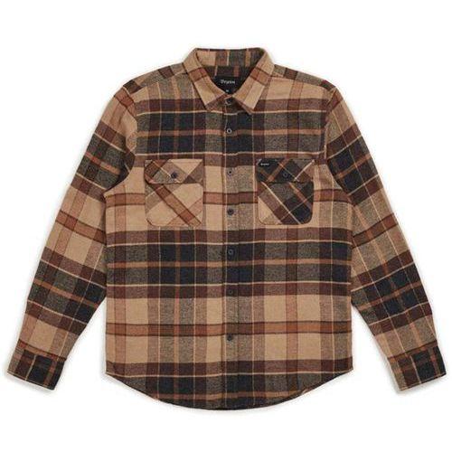 koszula BRIXTON - Bowery L/S Flannel Cream/Copper (CRCOP) rozmiar: L, 1 rozmiar