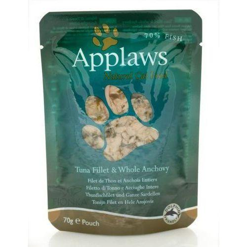 tuńczyk, anchois i wodorosty karma dla kotów saszetka 70g marki Applaws