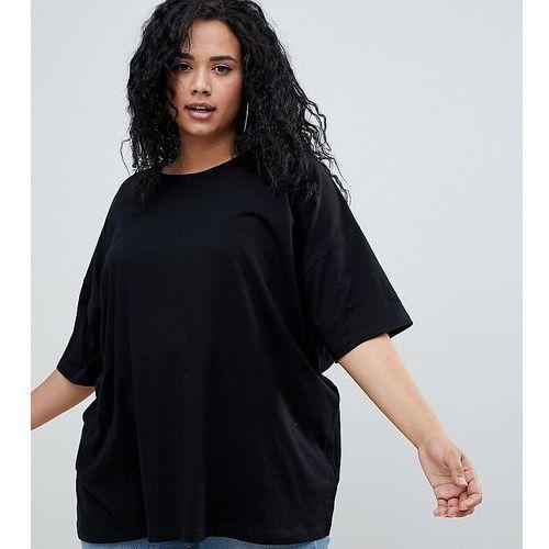 Asos curve Asos design curve super oversized t-shirt with drop shoulder in black - black