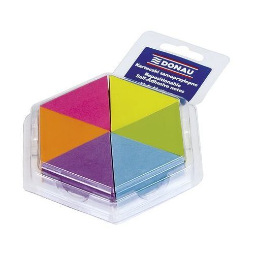 Bloczek samoprzylepny DONAU, notes-trójkąt, 43x50mm, 6x150 kart., neonowe, 7564001PL-99