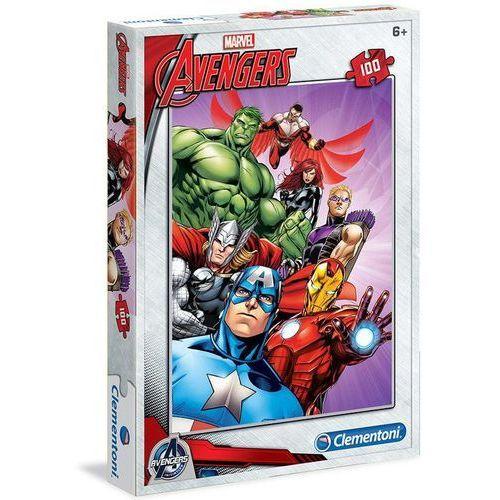 Clementoni Puzzle . 100 elementów. avengers (07244) + zakładka do książki gratis