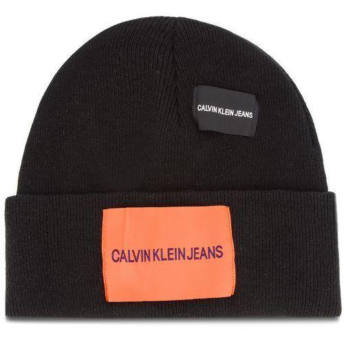 Czapka CALVIN KLEIN JEANS - J Patches Beanie W K40K400755 016, kolor czarny
