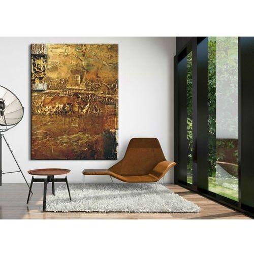 Obrazy nowoczesne - strukturalna abstrakcja - złoto-miedziana fanaberia