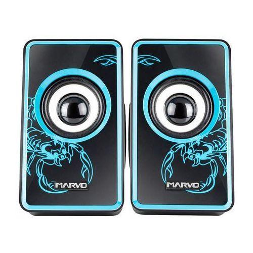 Marvo sg-201 - głośniki stereo usb & 3,5 mm (niebieski) (6932391903377)