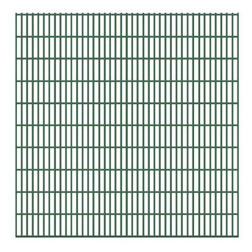 Vidaxl ogrodzenie płaskie ze stalowych prętów 6/5/6 mm 5 szt. 203 cm dł. 10 m