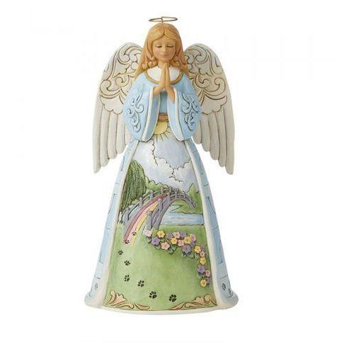 """Anioł """"Za tęczowym mostem jest niebo dla zwierząt"""" Just This Side of Heaven - Rainbow Bridge Pet Bereave Angel 6008762 Jim Shore figurka dewocjonalia"""