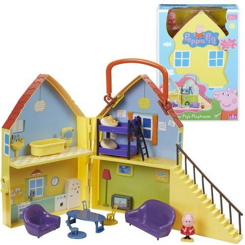 Rozkładany domek peppy z figurką peppy + akcesoria rek tv marki Tm-toys