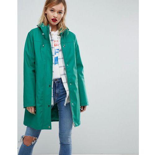 Asos design borg lined raincoat - green