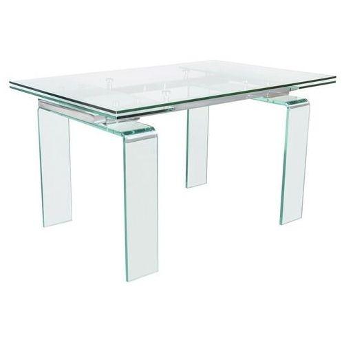 Stół szklany atlantis clear 200/300 - rozkładany, szkło transparentne marki Sofa.pl