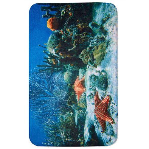 """Bonprix Dywaniki łazienkowe """"rafa koralowa"""", pianka memory niebieski"""