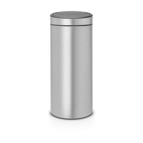 - kosz touch bin - 30 l - plastikowe wiaderko - metaliczny szary - metaliczny szary marki Brabantia