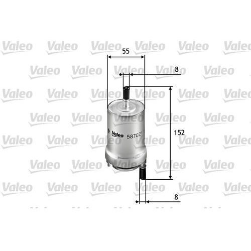 Valeo filtr paliwa przeplywowy 587021, Valeo 587021
