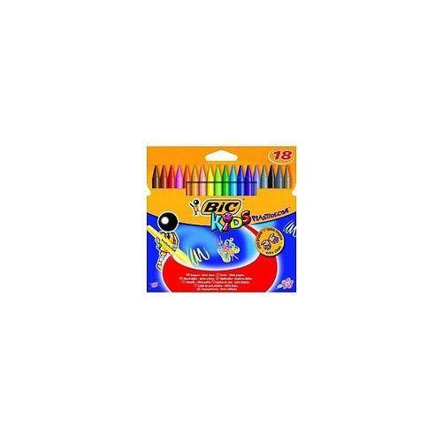 Kredki świecowe plastidecor 18 kolorów marki Bic