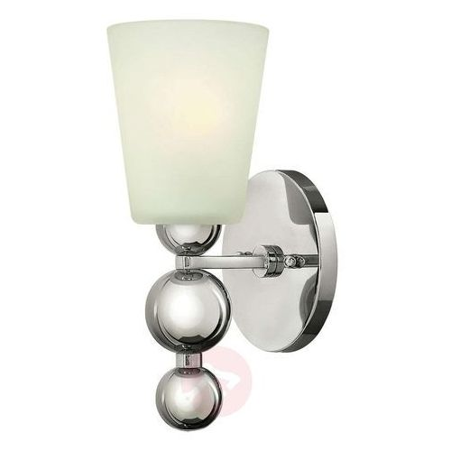 Kinkiet LAMPA ścienna HK/ZELDA1 PN Elstead HINKLEY metalowa OPRAWA w stylu retro kule nikiel biała, HK/ZELDA1 PN