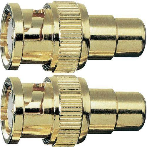 Przejściówka, adapter Cinch, BNC Oehlbach 8601, [1x Złącze żeńskie cinch - 1x Złącze męskie BNC], 2 szt., kup u jednego z partnerów