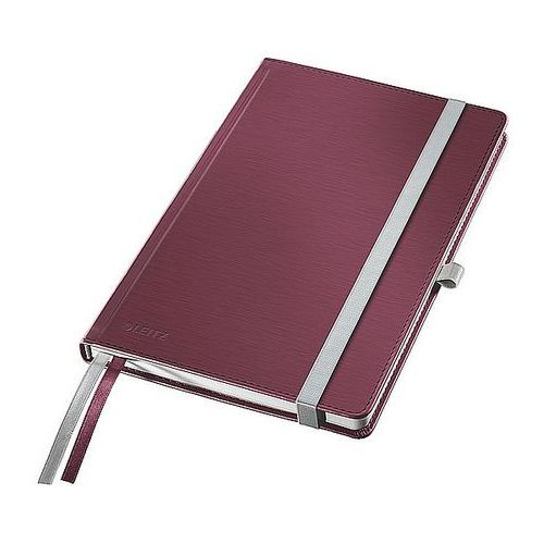 Notatnik w twardej oprawie Leitz Style A6 80 kartek kratka, rubinowa czerwień
