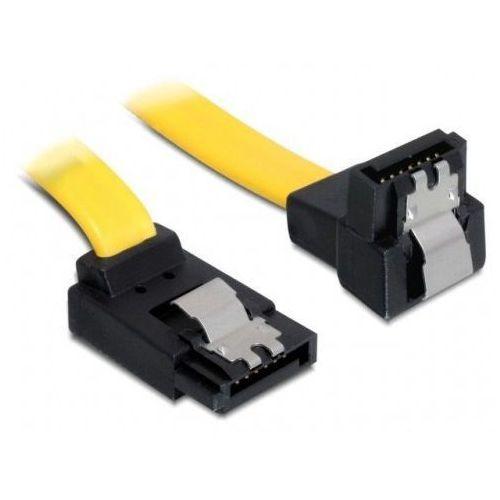 Delock Kabel SATA III 6Gb/s 30cm kątowy góra/dół (metalowe zatrzaski) żółty DARMOWA DOSTAWA DO 400 SALONÓW !! - sprawdź w wybranym sklepie