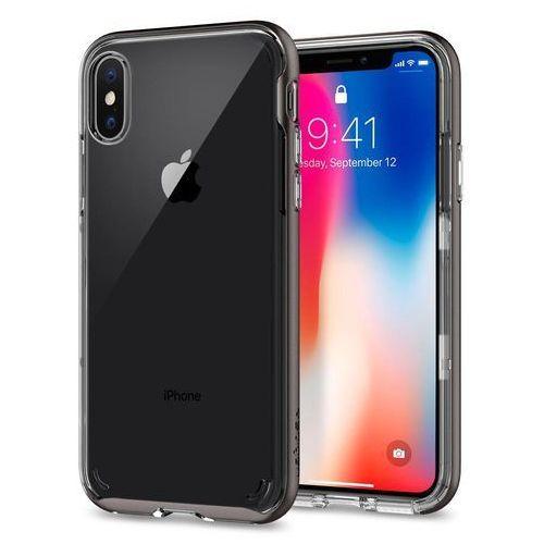 Spigen Etui neo hybrid crystal do apple iphone x szary (8809565300691)