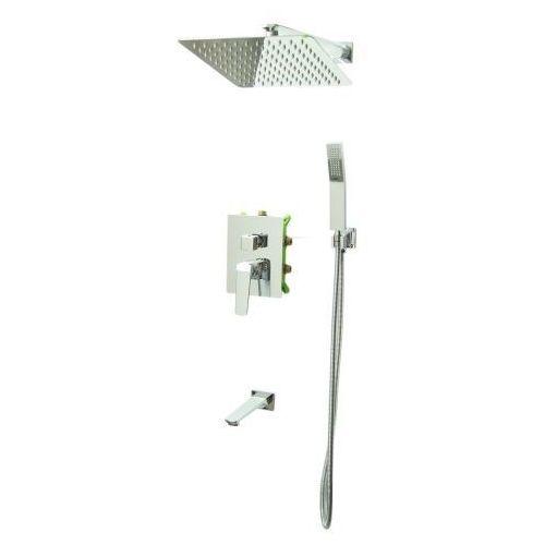 Bateria Natryskowa Prysznicowa Wannowa VERDO Podtynkowa z Deszczownicą 25 CHROM, 1010-5ab