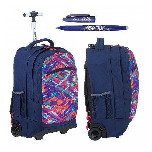 Hama  chiemsee ss16 plecak na kółkach wheely: l0531 ethno splash + długopis frixion gratis