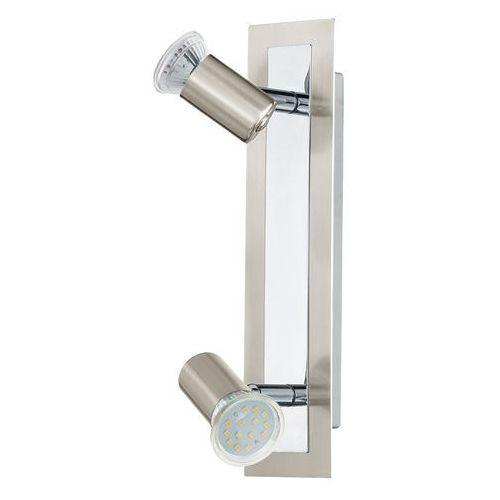Listwa Elgo Rottelo 90915 lampa sufitowa plafon spot 2x3W GU10 satyna/chrom, kolor Srebrny