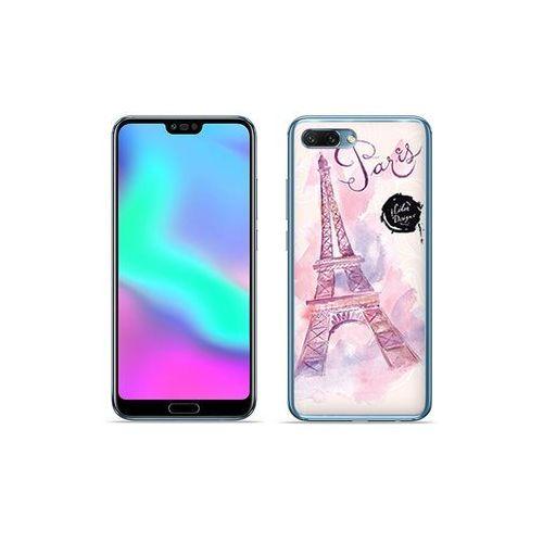 Huawei Honor 10 - etui na telefon Fantastic Case - różowa wieża eiffla