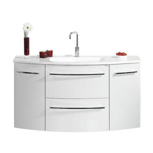 Lanzet Szafka łazienkowa z umywalką 120 cm s2.1 - biały wysoki połysk \ 120 cm \ clou-system