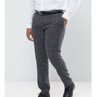 Gianni feraud plus skinny fit blue checked suit trousers - blue