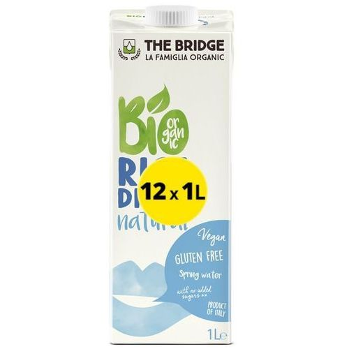 Napój mleko ryżowe naturalne 12x1l -  - eko zestaw (6,50 za 1l) marki The bridge