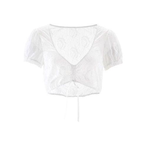 Bluzka koronkowa do sukienki ludowej bonprix biały, w 4 rozmiarach