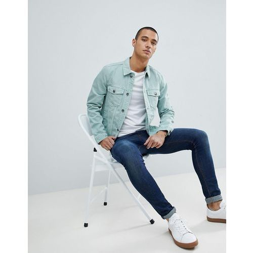 join life denim jacket in mint - green marki Bershka