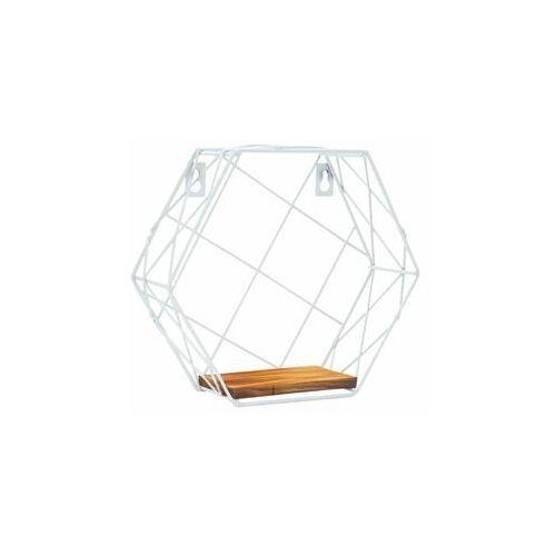 Spaceo Półka dekoracyjna hexagon biała (5901171257185)