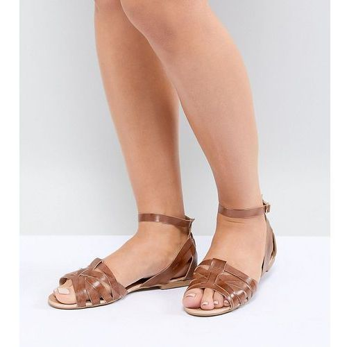 wide fit leather summer shoes - tan, Park lane