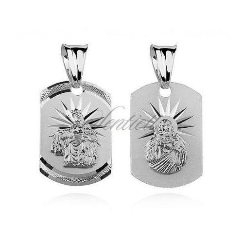 Srebrny medalik Jezus / Matka Boska Szkaplerzna - MD310, MD310