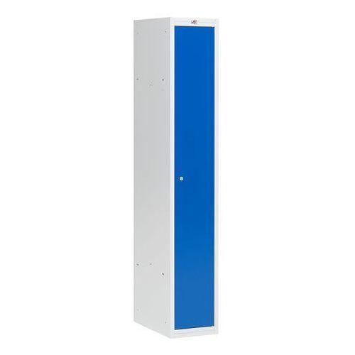 Array Szafa szatniowa coach - sekcja 1 drzwi - niezmontowana - 300 mm szary/niebieski