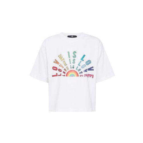 Missguided Koszulka 'PRIDE - Love is Love Cropped T Shirt' biały, kolor biały