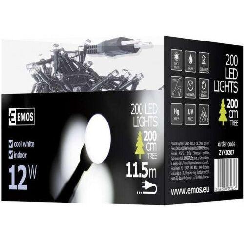 Emos Lampki choinkowe xmas zyk led na kabel biały zimny 200szt zyk0207