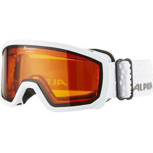 scarabeo doubleflex s2 gogle dzieci biały 2018 gogle narciarskie marki Alpina