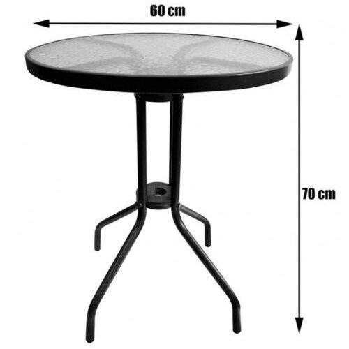 Stolik Bistro 60 cm szklany / antracyt PATIO, 47292