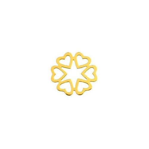 925.pl Łącznik ażurowe serca, złoto próba 585