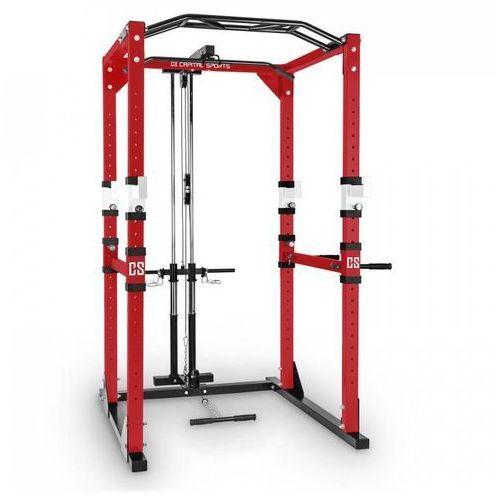 Capital sports Tremendour pl power rack domowy przyrząd gimnastyczny wyciąg stal czerwony biały