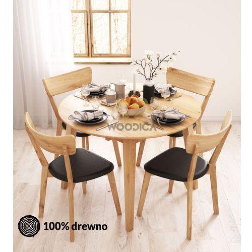 Stół dębowy okrągły 04 rozkładany 110x75x110