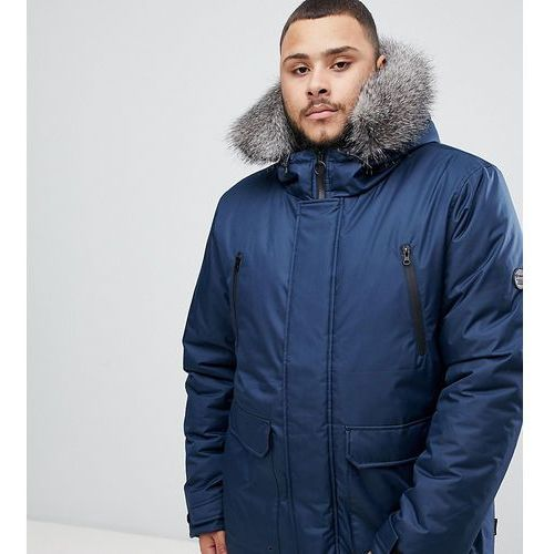 D-struct plus fur trimmed oversized mountain parka durable poly - navy