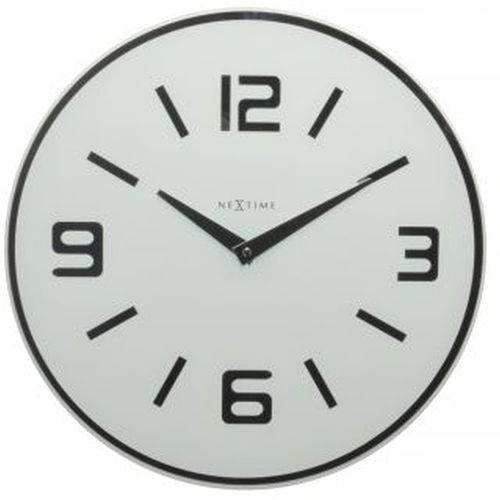 NeXtime - zegar ścienny Shuwan 43 cm - biały