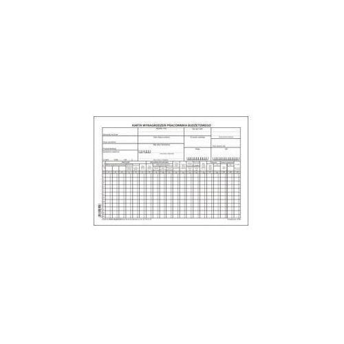Karta wynagrodzeń dla jednostek budżetowych a4 [pu/zo-94] marki Firma krajewski