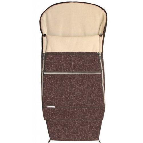 Emitex Śpiworek do wózka COMBI EXTRA, brązowy/beżowy (8595624428825)