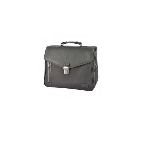 """teczka na laptop 2 komory z poszerzeniem pc 15,4"""" model 7835 gamma materiał nylon marki Dielle"""