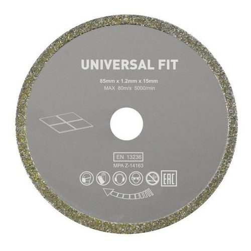Tarcza do miniszlifierki Universal fi 85 x 15 mm