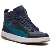 Puma Sneakersy - rebound street v2 l fur jr 368197 02 dk sapphire/blue coral/white