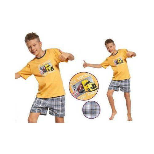 Piżama dziecięca ALEK: żółty, kolor żółty